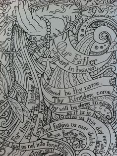 Prayers Coloring Book Page Prayer Inspirational Spiritual colouring adult detailed advanced printable Zentangle anti-stress,  Färbung für Erwachsene, coloriage pour adultes, colorare per adulti, para colorear para adultos, раскраски для взрослых, omalovánky pro dospělé, colorir para adultos, färgsätta för vuxna, farve for voksne, väritys aikuiset Line Art Black and White https://www.etsy.com/shop/ChubbyMermaid