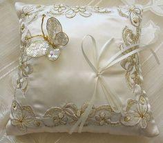 winter wedding ring pillow | weddings ring pillows romantic ring pillows butterfly wedding ring ...