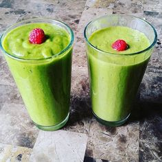 Two different smoothies for this beautiful Wednesday morning. The left has hemp seeds pineapple 1 mango 2 bananas and spinach. The right has hemp seeds 2 mangos 1 banana 1 kiwi spinach and flax milk! Tag #HNTfam in your green smoothies for a feature!  #Hemphearts #Hempseed #Hemp #industrialHemp #Cannabis #CannabisCommunity #Vegetarian #Vegan #Morning #Breakfast #Love #Peace #Unity #Hippie #Yogi #Namaste #Healthy #Foodie #HealthyFood #Nutrition #Farm #Organic #Grow #HempNotTrees #Movement…