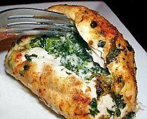 Pierś z kurczaka ze szpinakiem i mozzarellą