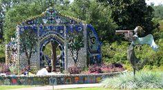 gardens | The Minnie Evans Bottle Chapel at Airlie Gardens, Wilmington, North ...