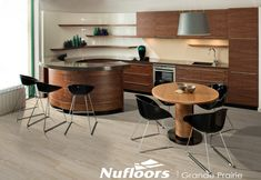 Check out these awesome curved kitchen island designs. Curved overhangs, island structures and more. Kitchen Design Gallery, Best Kitchen Designs, Modern Kitchen Design, Interior Design Kitchen, Kitchen Decor, Kitchen Ideas, Interior Office, Wood Kitchen Cabinets, Kitchen Countertops