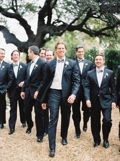Super chic groom and groomsmen style; photo: Taylor Lord
