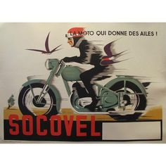 1940s Belgian Art Deco Motorcycle Poster ($1,200) ❤ liked on Polyvore featuring home, home decor, wall art, posters, motorcycle wall art, horizontal wall art and motorcycle posters