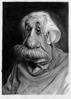 Albert Einstein - CARICATURE: http://dunway.com/