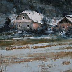 Home by Tibor Nagy Oil ~ 15.7 x 15.7