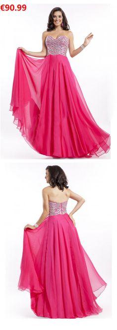 Deep V-neck prom dress with side slit - Ellie Wilde - ew21737 ...