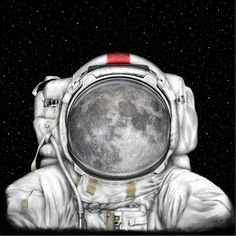 Space Astronaut Moon