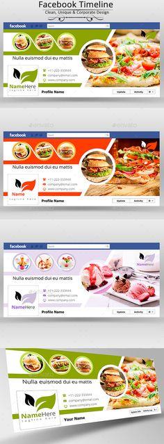Facebook Cover Design Template Timeline Covers Menu Website Banner One Page Social Media