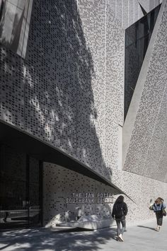 Image 11 of 34 from gallery of The Ian Potter Southbank Centre / John Wardle Architects. Photograph by Trevor Mein Ian Potter, John Wardle, Australian Architecture, Facade, Centre, Louvre, Gallery, Building, Architects