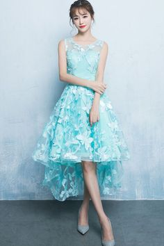 Green lace high low homecoming dresses for teens Source by for teens fashion Dresses Elegant, Trendy Dresses, Sexy Dresses, Cute Dresses, Beautiful Dresses, Dress Outfits, Short Dresses, Fashion Dresses, Summer Dresses