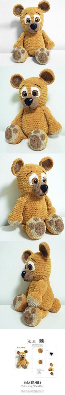Bear Barney amigurumi pattern