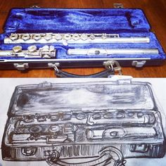 Day 17. Draw a musical instrument. Haven't played this since school I miss it sometimes. # #everydaydrawingchallenge #eddc #sketchbooking #drawing #sketching #sketchaday #artshare #arteveryday #artistsoninstagram #artoftheday #dailysketch #blackwoodcottageart #flute #musicalinstrument #bandgeek