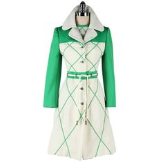 Vintage 1960's Lilli Ann Green White Dress and Jacket | From a collection of rare vintage suits, outfits and ensembles at http://www.1stdibs.com/fashion/clothing/suits-outfits-ensembles/