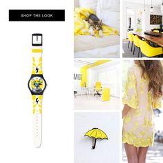 PETFRIENDLY Un rayo electrizante recorre la correa del ELECTROCHAT de Swatch. Su color amarillo vibrante es el ítem trendy del verano!