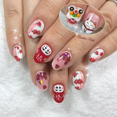 Chinese New Year nails! Design modified and adapted from @cynfulnails