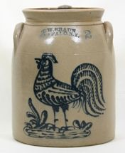 SOLD - $ 34,650 Sept 2006 C. W. Braun 2 gallon preserve jar with original lid.