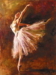 Ballerina Painting by Andrew Atroshenko. I've tried to do stuff like this, it's so hard!