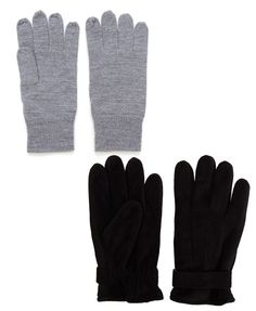 Grey gloves R111,75 from Country Road at Woolworths | Black gloves R199 from Woolworths