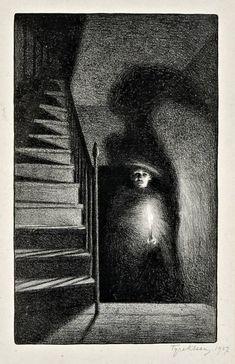 Tyra kleen, light and shadows, 1907 dark drawings, pencil drawings, charcoal drawings Dark Drawings, Pencil Art Drawings, Art Sketches, Charcoal Drawings, Hipster Drawings, Drawing Faces, Manga Drawing, Shadow Drawing, Shadow Art
