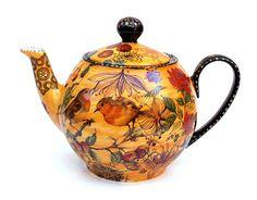 tea pot with robins Sugar Bowl, Bistro Design, Tee Set, Teapots And Cups, Nagasaki, Chocolate Pots, Vintage Tea, Banks, Tea Time