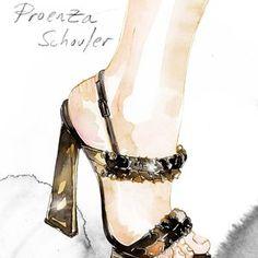 Proenza Schouler illustration by Samantha Hahn via @The Cut