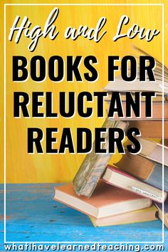 High and Low Books to Attract Reluctant Readers Reading Goals, Student Reading, Teaching Reading, Teaching Tips, Learning, Reading Stories, Reading Resources, Reading Strategies, Math Resources