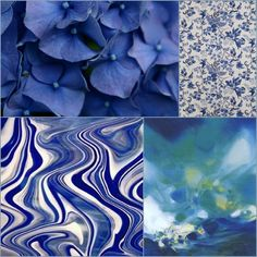 Hydrangea blue, delft blue.