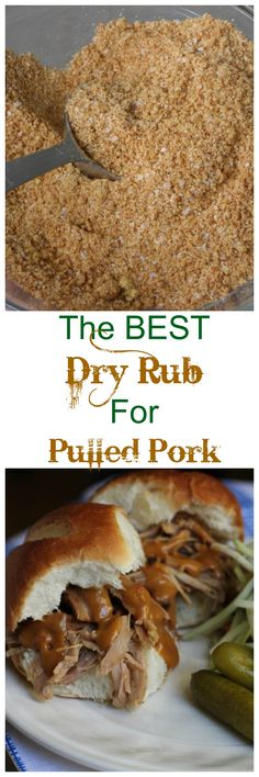 This is the BEST Dry Rub to make a perfectly seasoned pulled pork! So easy! {Brittany's Pantry}