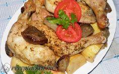Kemencés csirkecombok pékné módra recept fotóval