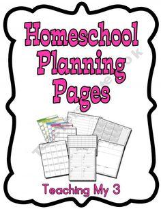 Homeschool Curriculum  Unit Planner