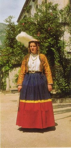 Europe | Portrait of a woman wearing traditional clothes, Orebić, The Adriatic coast Croatia