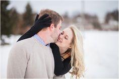 Playful Winter Engagement Photo