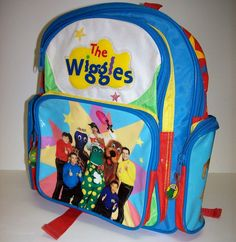 The Wiggles Child Size Backpack Sam Dorthy Murray Jeff Anthony 10x12x3 #HitEntertainment