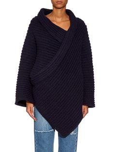 STELLA MCCARTNEY Chunky-knit wool-blend cardigan