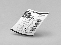 Today i am sharing Best 50 Beautiful Free Resume (CV) Templates in Ai, Indesign & PSD Formats You Would Love to Grab Free Indesign Resume Template, Simple Cv Template, Resume Design Template, Adobe Indesign, Simple Resume, Creative Resume, Resume Cv, Free Resume, Personal Resume