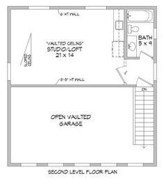 Home Plan: 763-840 Above Garage Apartment, Garage Office, Garage Apartment Plans, Office Plan, Garage Apartments, Carport Designs, Garage Design, Prefab Garages, Apartment Design