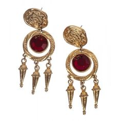 Pre-owned Diane von Furstenberg Red Rhinestone Chandelier Dangle... ($165) ❤ liked on Polyvore featuring jewelry, earrings, rhinestone earrings, red dangle earrings, red chandelier earrings, dangle earrings and rhinestone chandelier earrings
