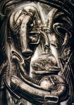 MELT by H.R. Giger (Hans Rüdi Giger) #hrgiger #scifi #sciencefiction #art #surreal #surrealism