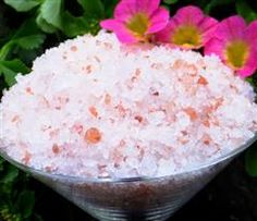 Tranquil Aromatherapy Bath Salts: A medley of soothing mineral rich salts blended with pure organic essential oils enhance the natural healing and soothing effects of a warm bath. Salt baths help balance skin oils, detoxify, improve circulation, ease muscular pain and joint stiffness and soothe irritated skin conditions.