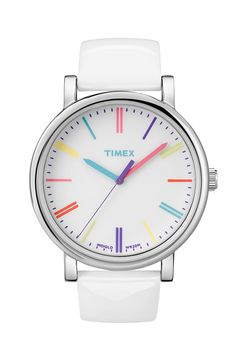 Timex Easy Reader Multi Color Marker Watch, $65; nordstrom.com     - ELLE.com
