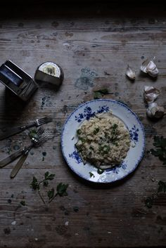 Risotto with Porcini and Smoked, Salted Ricotta | From My Dining Table