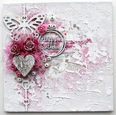 set of two canvas cards -2Crafty Chipboard-