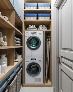 Misto na susak Police Pantry Laundry Room, Laundry Room Layouts, Small Laundry Rooms, Laundry Room Storage, Laundry Room Design, Small Toilet Room, Laundry Room Inspiration, Room Closet, Küchen Design