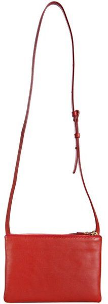 Red Trio Cabas Solo Leather Shoulder Bag | Celine, Leather ...