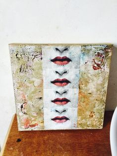 Fornasetti, acrylic, gold enamel and oil on canvas