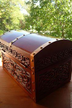 """Купить Сундук """"Кельтика"""" - коричневый, сундук из дерева, деревянный сундук, скандинавский стиль, купить сундук"""