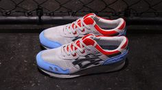 #asics Gel-Lyte III - Grey/Sax/Red #sneakers