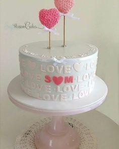 Sweet engagement cake