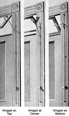 Transom Window Over Five Panel Door With Opening Mechanism
